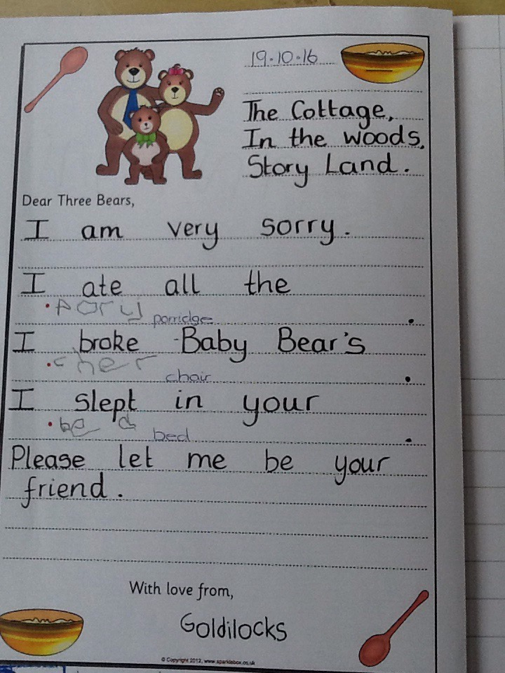 Goldilocks Amp The Three Bears Marlfields Primary Academy Blog